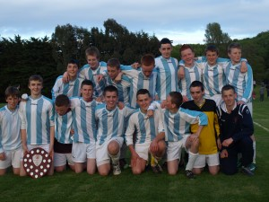Corkbeg U-14 team celebrate their league success on Wednesday night