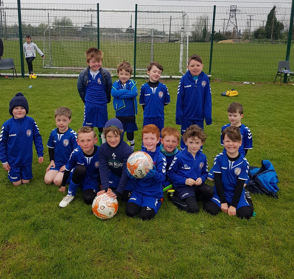 The Corkbeg U-7s before todays game with Leeside in Little Island
