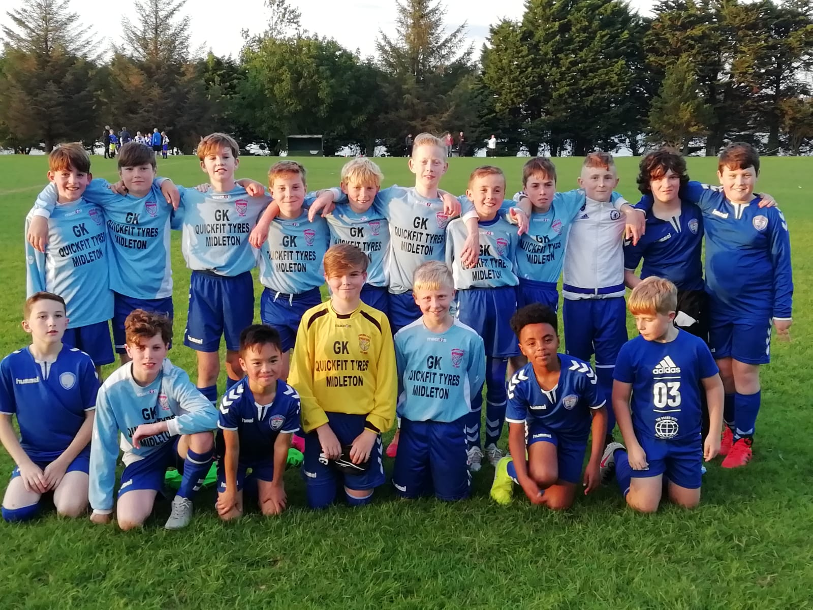 Corkbeg u13's got their first win of the season against a tough Corinthians 'A' side on a lovely evening in Whitegate.